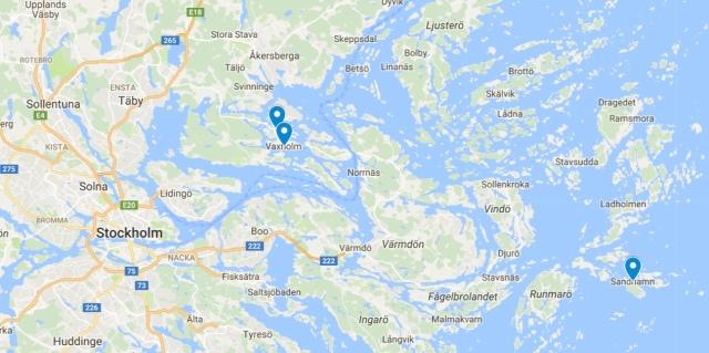Map of Stockholm's archipelago